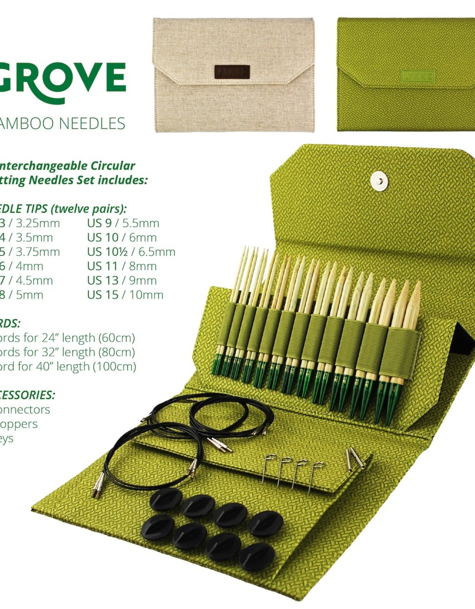 Lykke Lykke Grove Interchangeable Needle Set 5""