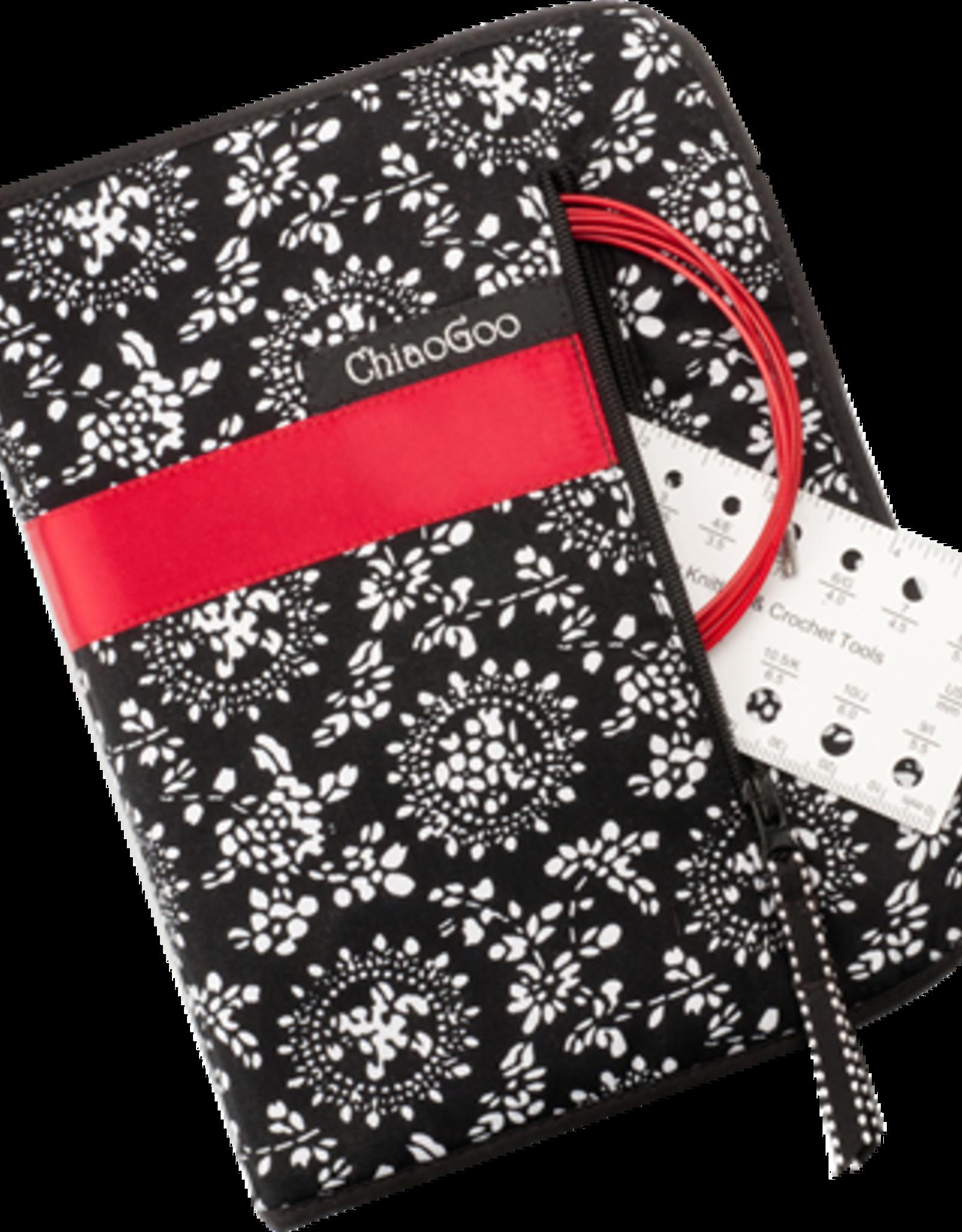 "ChiaoGoo Chiaogoo Twist Red Lace Complete Set 4"" - 2.75mm-10.00mm"