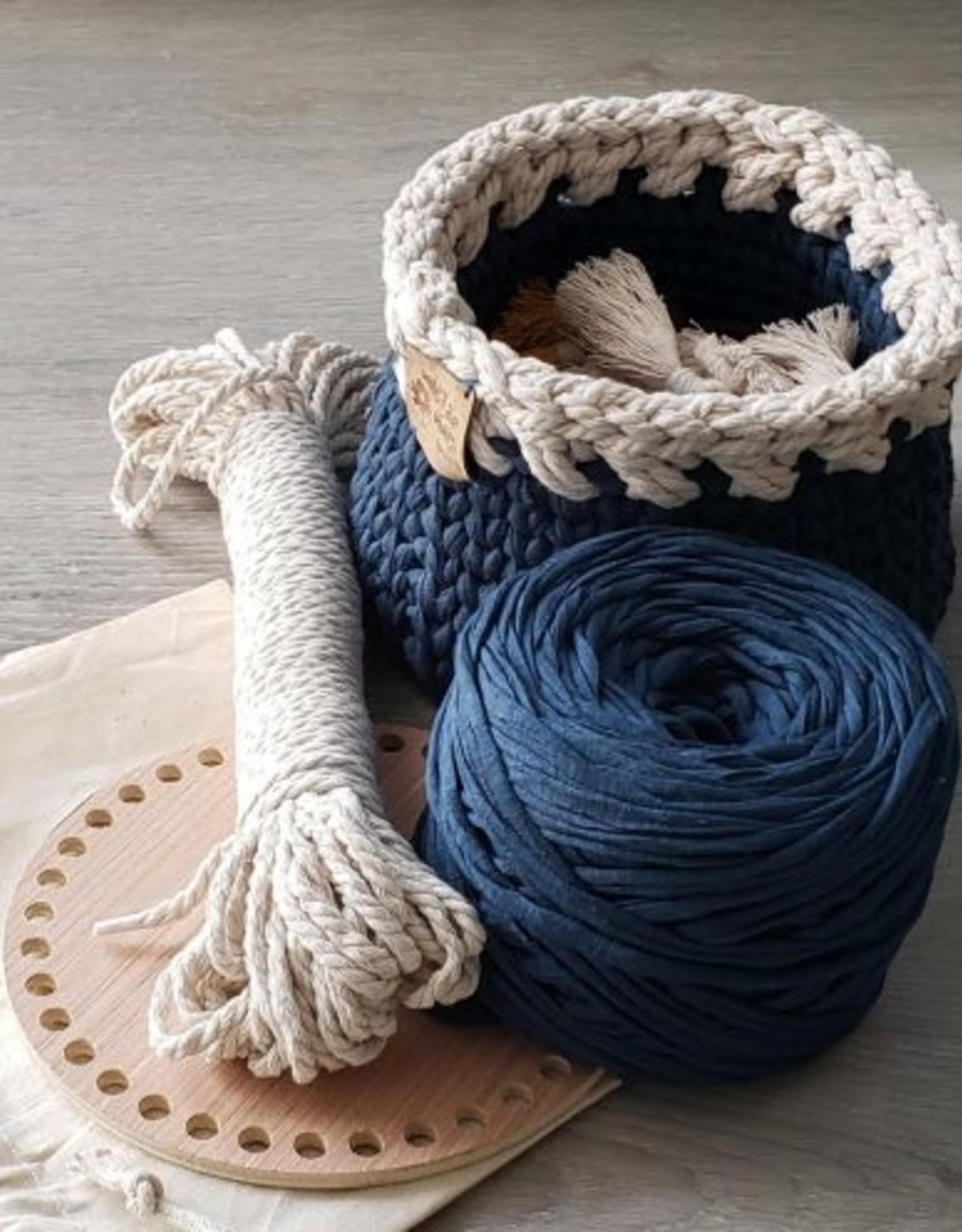 Aster & Vine Crochet Basket Kit