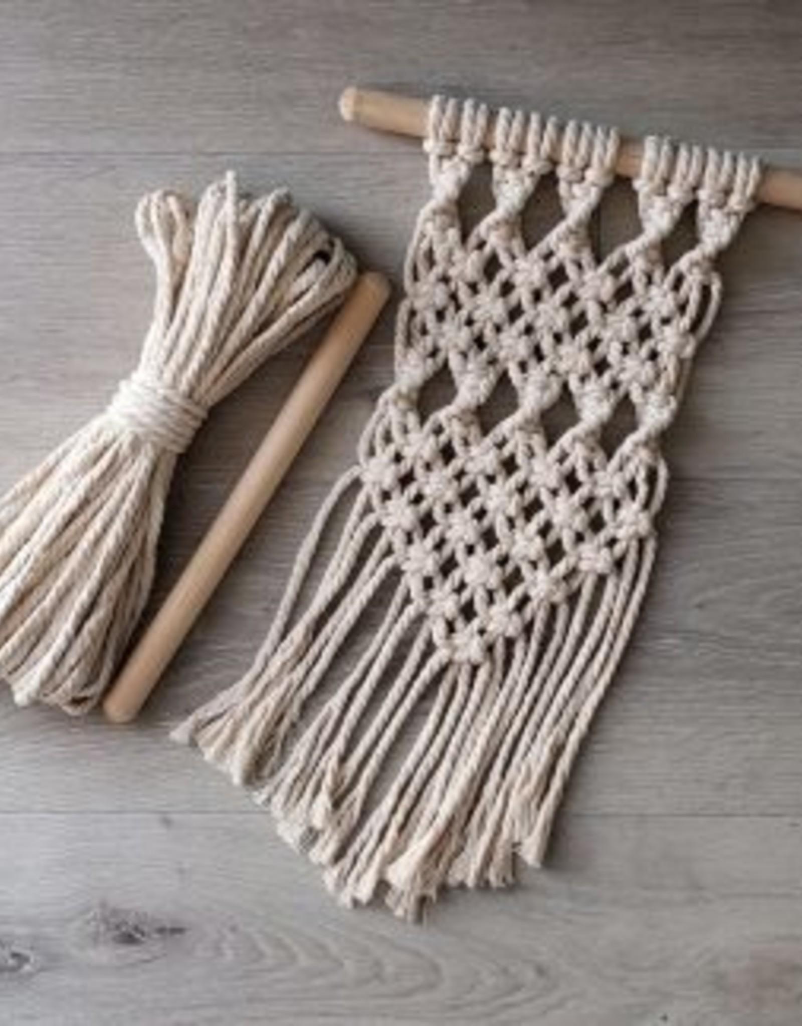 Aster & Vine Wall Hanging Kit - Macrame