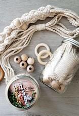 Aster & Vine Spiral Plant Hanger Kit - Macrame