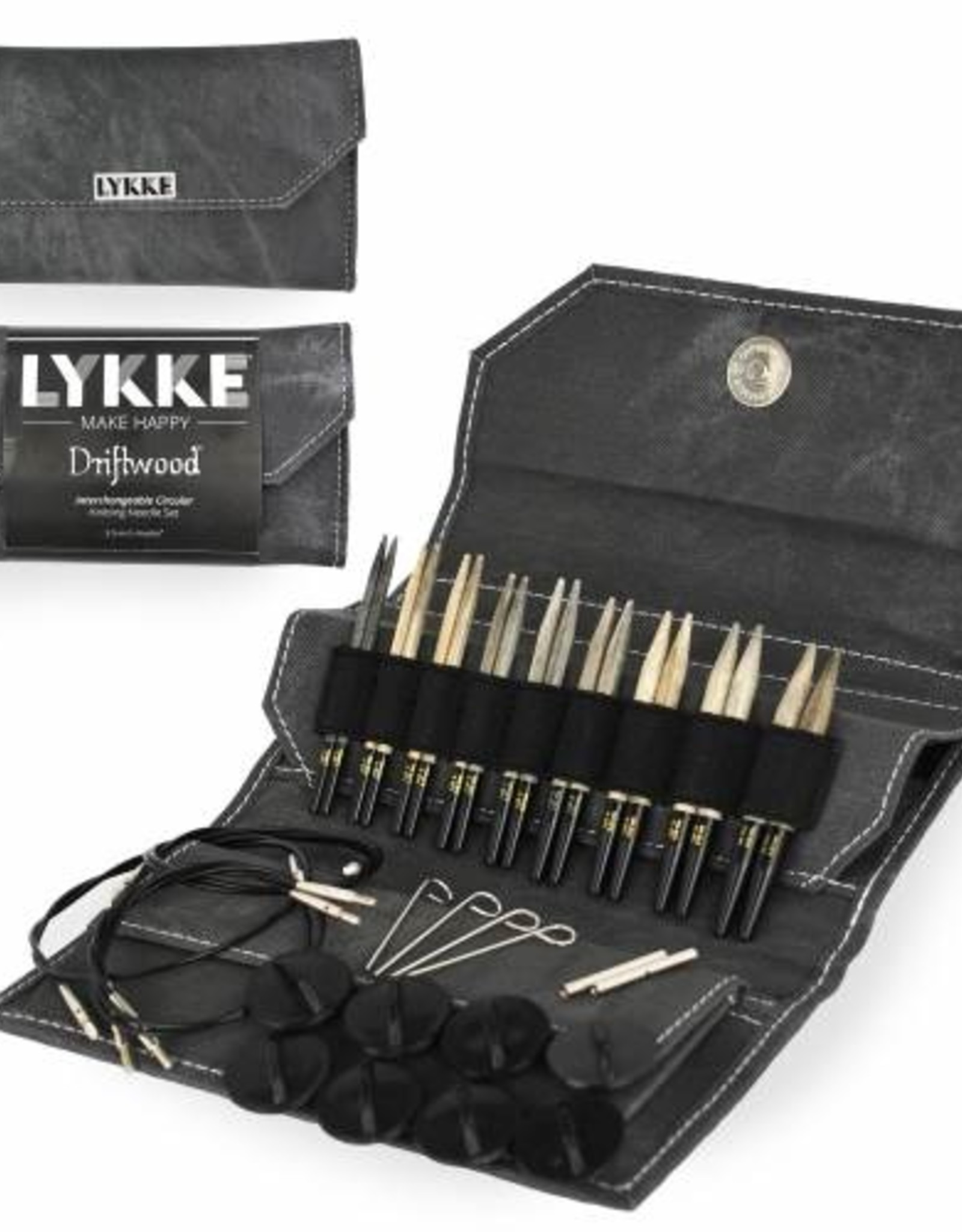 "Lykke Lykke Driftwood Interchangeable 5"" Needle Set"
