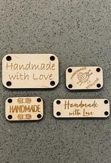 Handmade with Love Wood Tags 4pk
