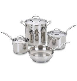 Cuisinart Chef Classic S.Steel Cookware Set  - 7pcs