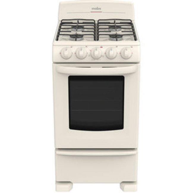 """Mabe Mabe Stove 20"""" w/broiler Bisque EM5031BAPL0"""