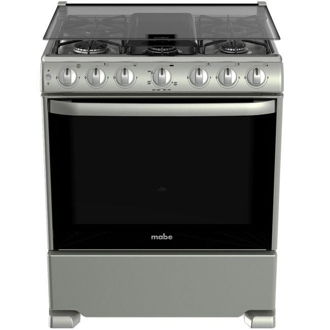 """Mabe Mabe Stove 30"""" s/steel Silver w/cover EM7657CSIS1"""