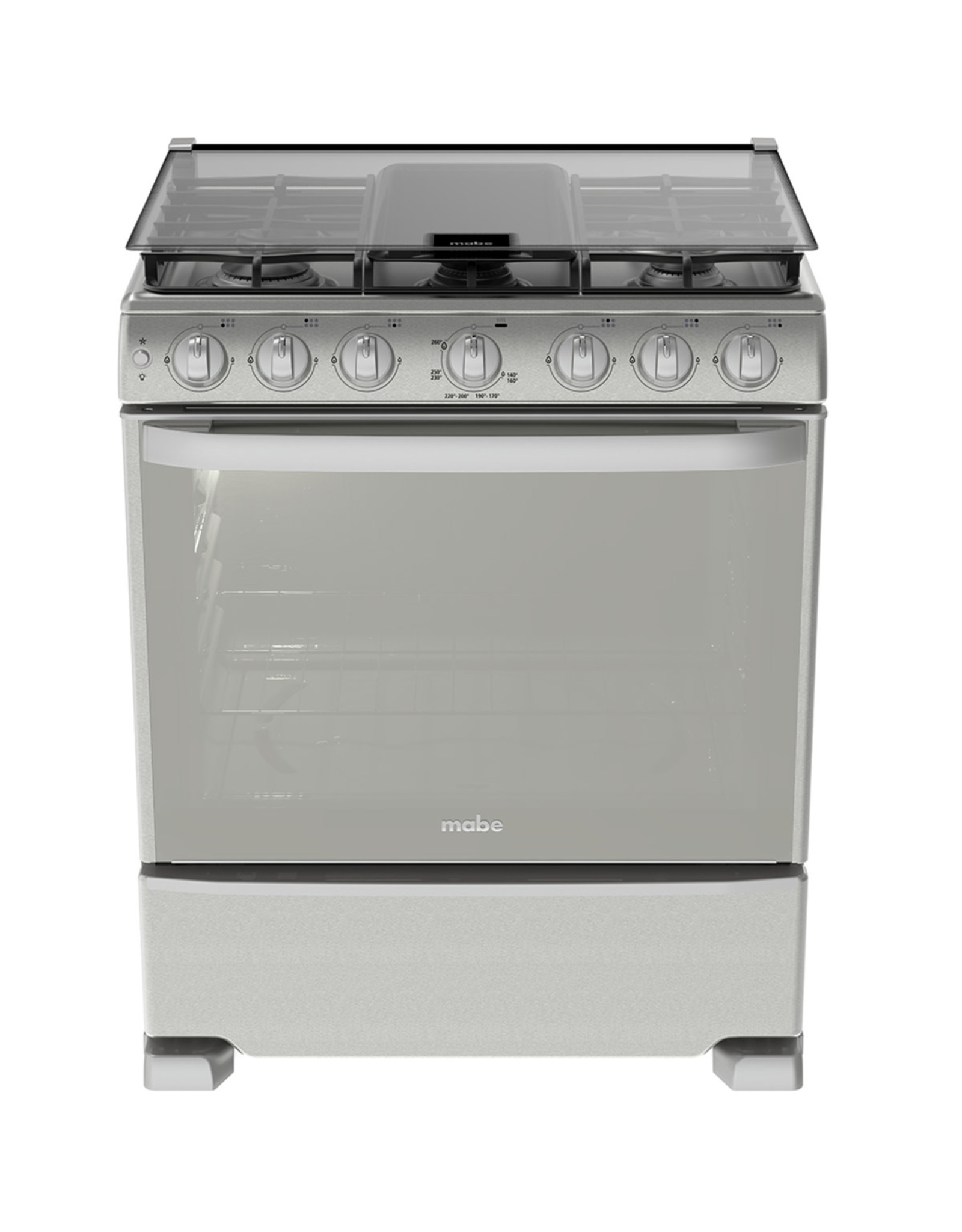 """Mabe Mabe Stove 30"""" s/steel w/broiler w/cover EM7660CFIX0"""