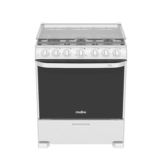 """Mabe Mabe Stove 30"""" s/steel w/broiler w/cover EM7660CFIX1"""