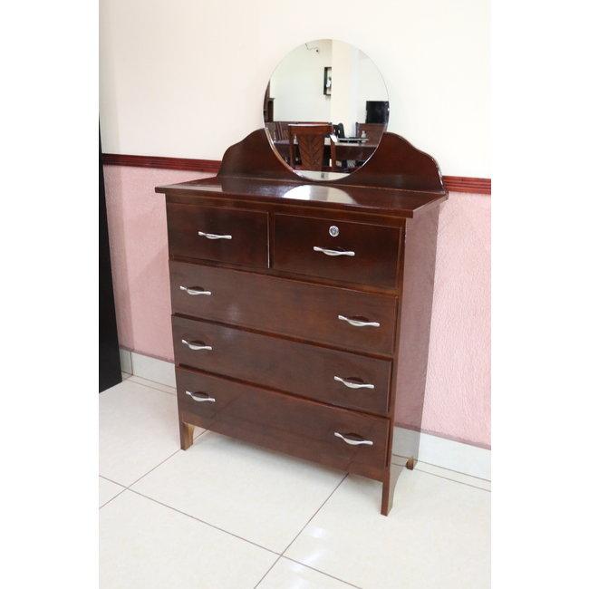 Small Dresser w/ Round Mirror (CZL)