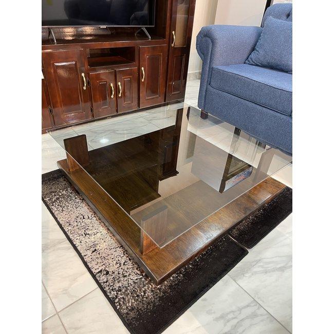 Coffee Table w/ Glass 3X3 JAV3X3CT02