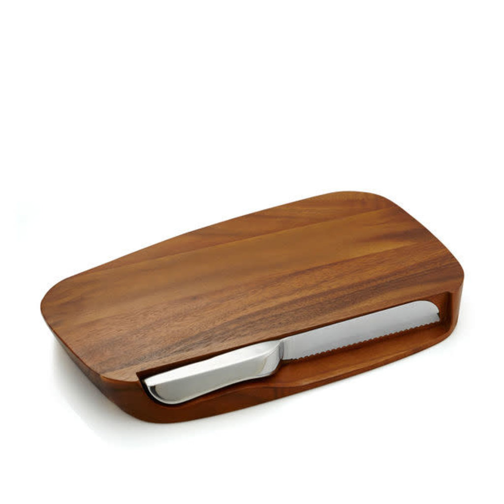 Nambe Nambe Blend Bread Board w/Knife