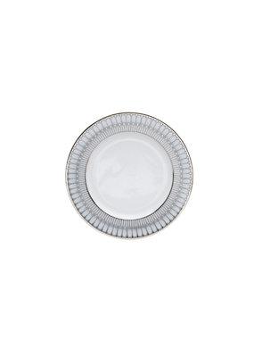 Deshoulieres Deshoulieres Arcades grey & shiny platinum dinner plate 10.5