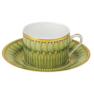 Deshoulieres Deshoulieres Arcades Tea Saucer - Green