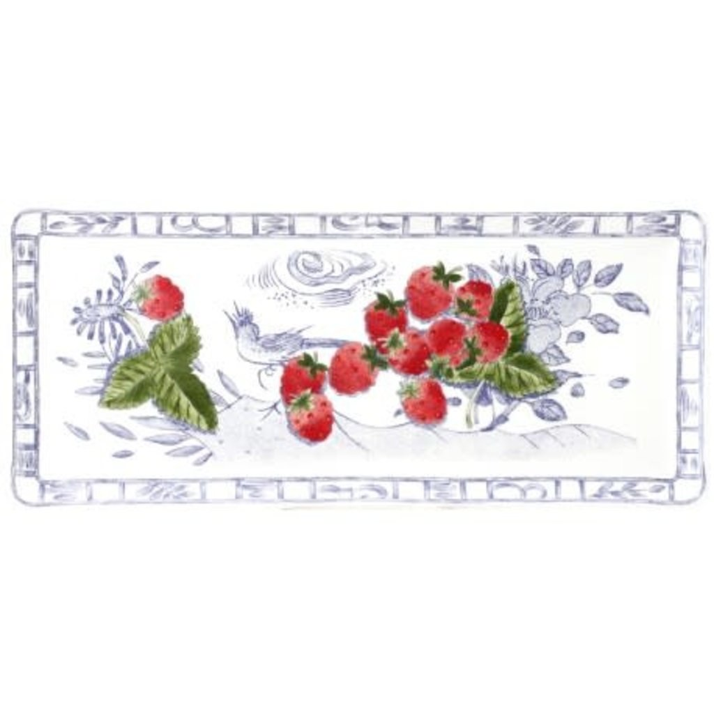 "Gien France oblong serving tray  14"" long"