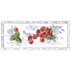 "Gien France oblong serving tray  14"" long"