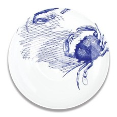 "Caskata Caskata Crabs & Nets Blue 13"" Bowl"