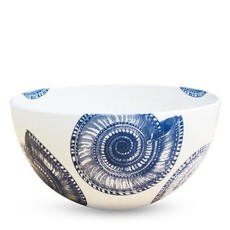 "Caskata Caskata Shells (BLU) 8"" Round Bowl"