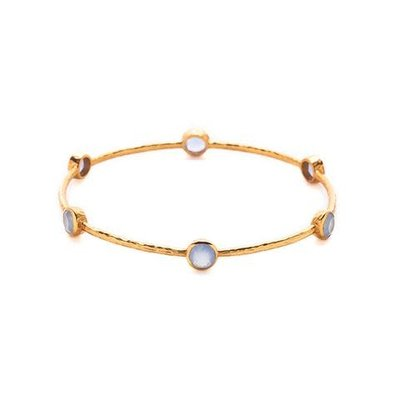 Julie Vos Julie Vos Milano Bangle Chalcedony Blue M