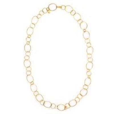 Julie Vos Julie Vos Colette Textured Link Necklace