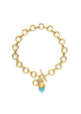 Julie Vos Julie Vos Lafayette Necklace - Aqua Chalcedony and Moonstone