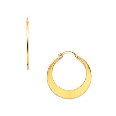 Julie Vos Julie Vos Luna Gold Hoop Earring L