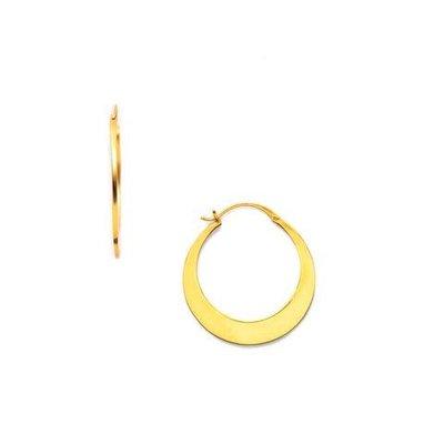 Julie Vos Julie Vos Luna Gold Hoop Earring  M