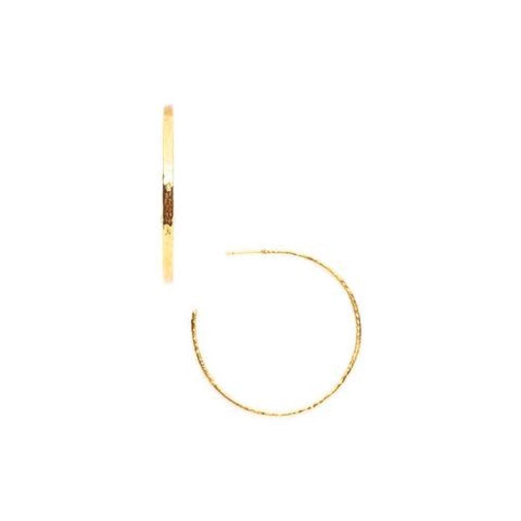 Julie Vos Julie Vos Crescent Hoop Gold Large