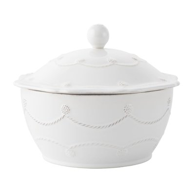 "Juliska Juliska Berry & Thread Whitewash 8"" Covered Casserole"