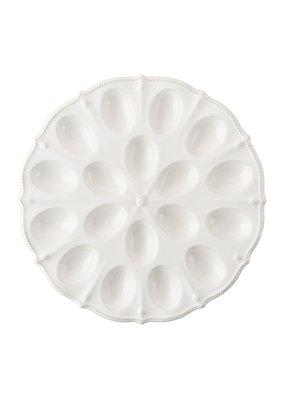 Juliska Juliska Berry & Thread Whitewash Deviled Egg Platter