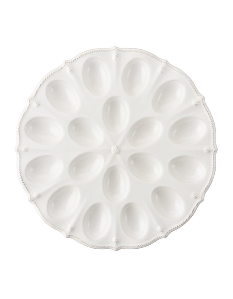 Juliska Juliska Berry & Thread Whitewash Deviled Egg Platter
