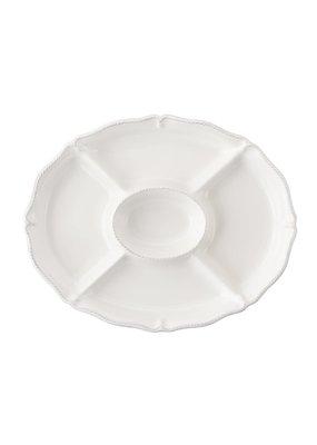 Juliska Juliska B&T Crudite Platter-Whitewash