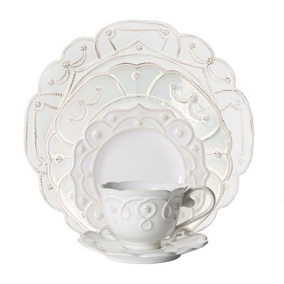Juliska Juliska Jardins du Monde 5 Piece Place Setting- Whitewash