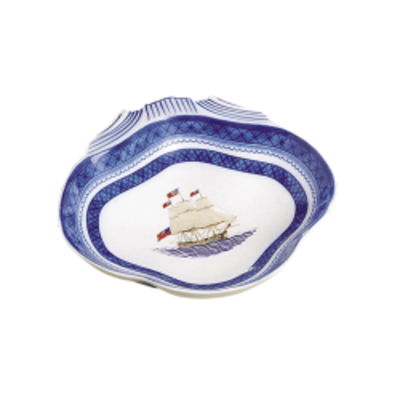 Mottahedeh Mottahedeh American Ship Constitution Shell Dish