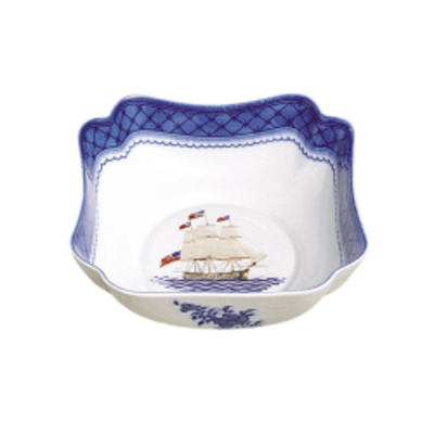 Mottahedeh Mottahedeh American Ship Small Square Bowl
