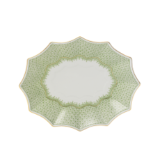 Mottahedeh Mottahedeh Apple Green Lace Medium Fluted Tray