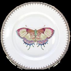 Mottahedeh Mottahedeh Golden Teardrop Butterfly Dessert Plate- Gold