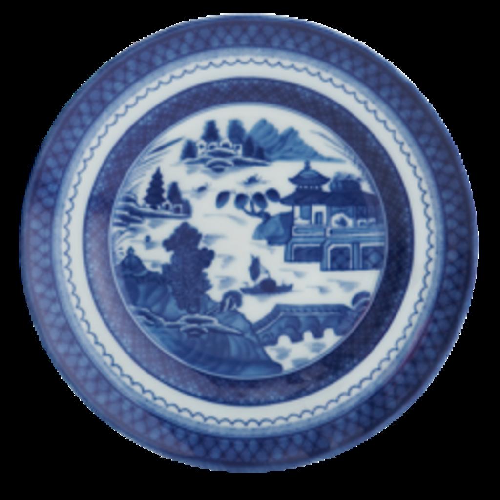 Mottahedeh Mottahedeh Blue Canton Rim Soup Plate