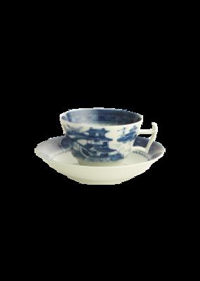Mottahedeh Mottahedeh Blue Canton Tea Cup & Saucer
