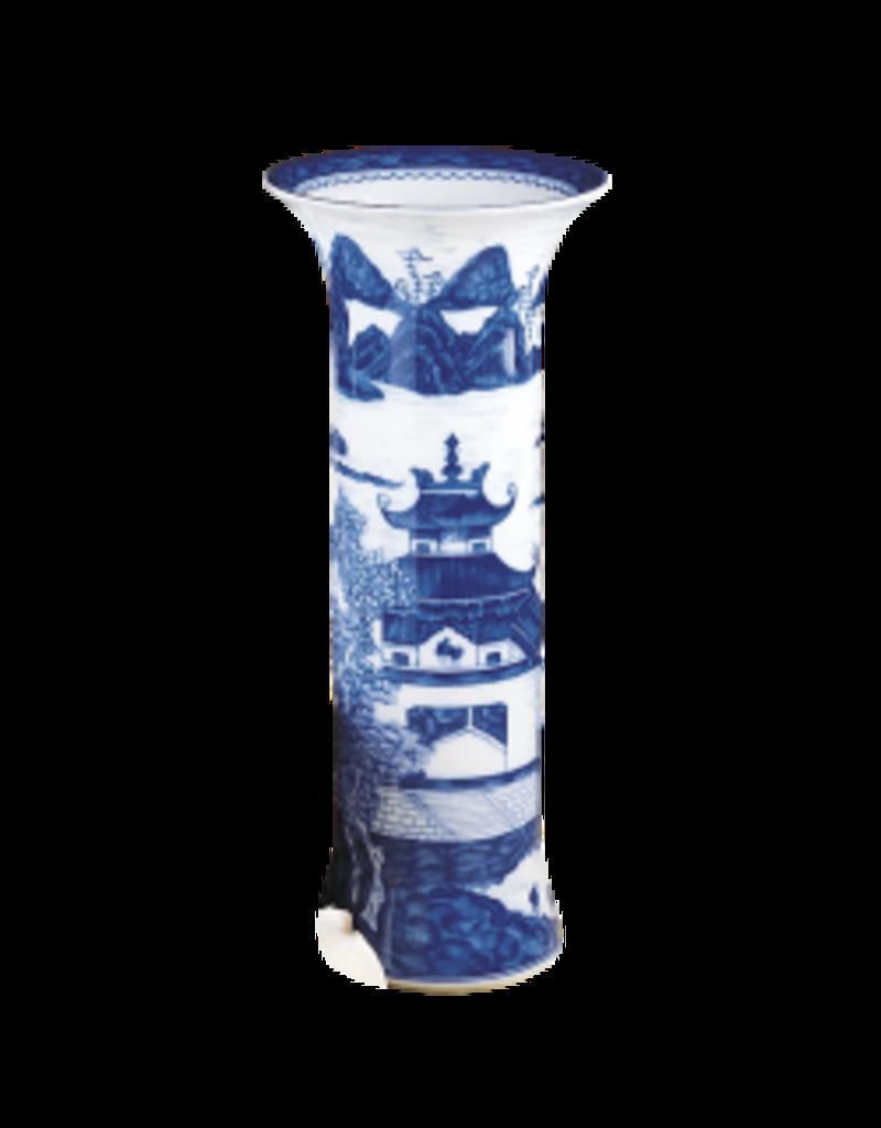 Mottahedeh Mottahedeh Blue Canton Trumpet Vase