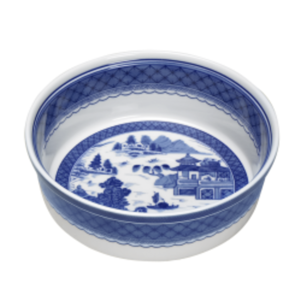 Mottahedeh Mottahedeh Blue Canton Round Souffle
