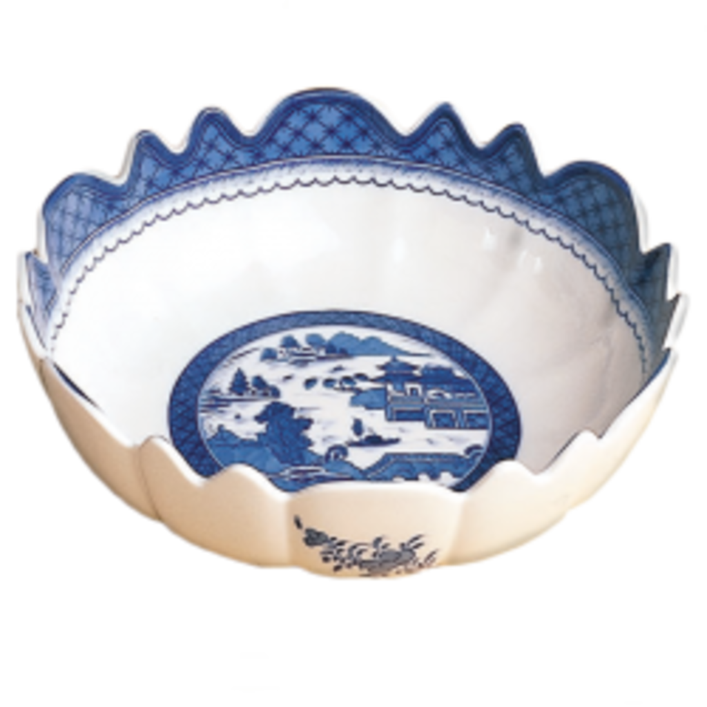 Mottahedeh Mottahedeh Blue Canton Scalloped Bowl