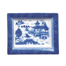 Mottahedeh Mottahedeh Blue Canton Rectangular Tray Small