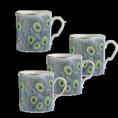 Mottahedeh Mottahedeh Peacock Mug - Set of 4