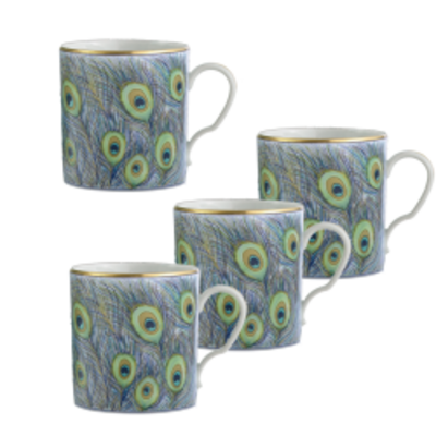 Mottahedeh Mottahedeh Peacock Mug - Set of 4