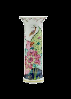 Mottahedeh Mottadhedeh Tobacco Leaf Trumpet Vase
