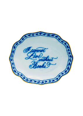 Mottahedeh Mottahedeh Books Oval Verse Tray