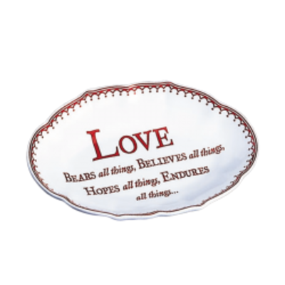 Mottahedeh Mottahedeh Love Verse Tray