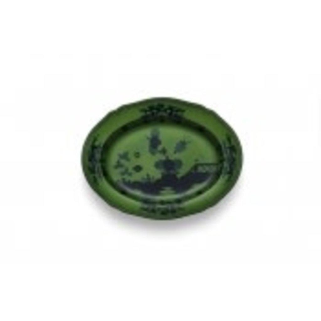 "Richard Ginori Richard Ginori Oriente Italiano Oval Platter 13.5"" Malachite"