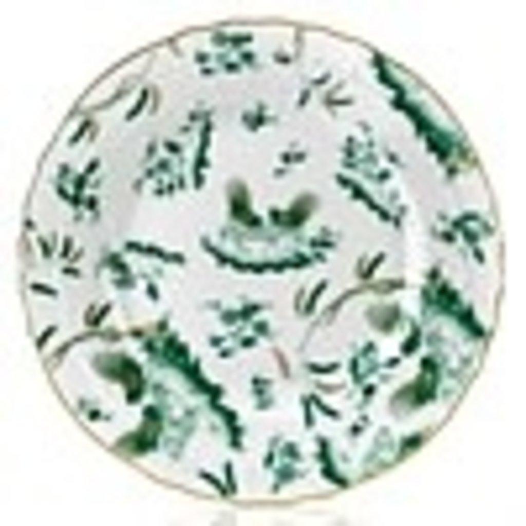Richard Ginori Richard Ginori Oro di Doccia Green Dessert Plate 21.5cm