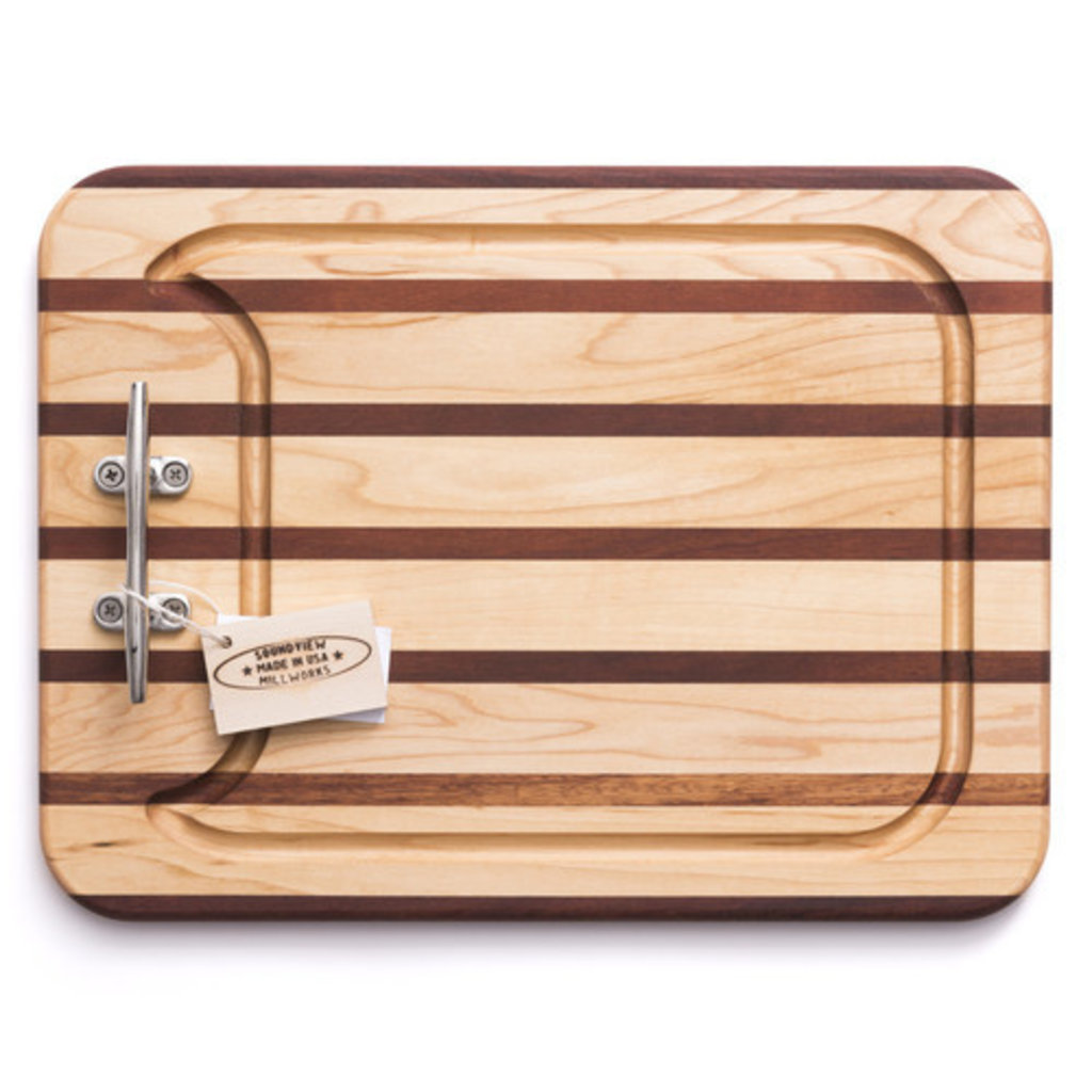 Soundview Millworks Soundview Millworks Small Appetizer Board Multi Stripe- Single Handle